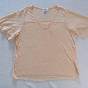 Old Navy Women Top M Orange Short Sleeves